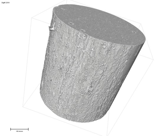 Digital reconstruction of a long-acting PLGA ocular implant from 3D X-ray microscopy microstructure images